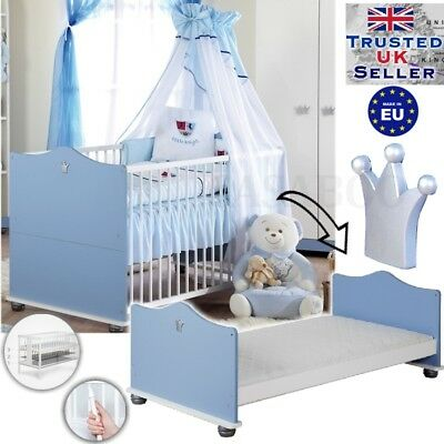LUXURY Baby Cot bed / JUNIOR bed 140x70cm wooden  +Option MATTRESS/ PRINCE NEW