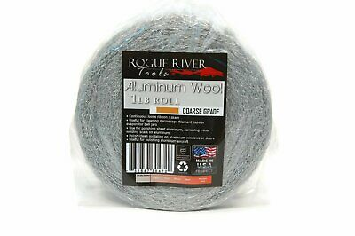 (1lb) Aluminum Wool Roll by Rogue River Tools - Coarse Grade