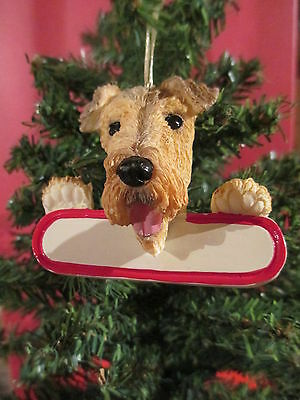 Airedale   Ornament  # 57