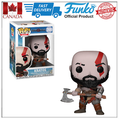 Authentic Funko POP KRATOS with Axe God of the War #269 Mint Box Canada Seller