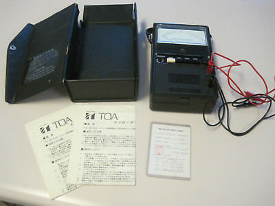 TOA ZM-104 Portable Analog Impedance Meter, made in Japan, working great