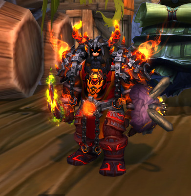 WOW TCG Loot Code Landro Longshot World of Warcraft The Red Epic Tabard of Flame