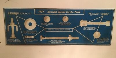 Vintage 1977 Dodge Colt & Plymouth Arrow Special Service Tools Board Mechanic