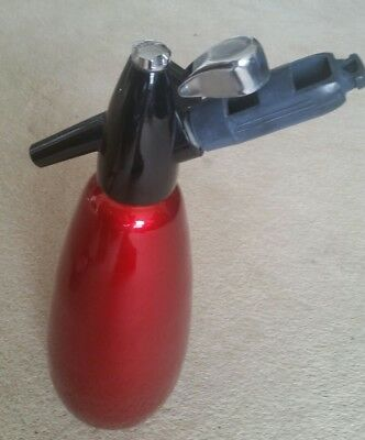 Vintage Red Anodised BOC Soda Syphon Made in  England