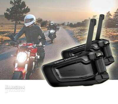 Cardo Scala Rider Smartpack Duo Intercom Motorcycle Headset Helmet Bluetoot Bike