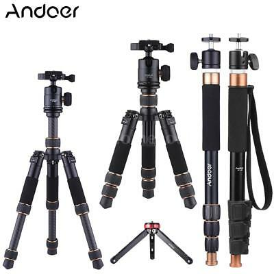 Aluminum Tripod Monopod Stand w/ 360° Ball Head for DSLR Camera Video Camcorder