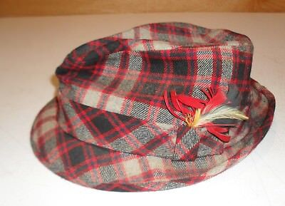VINTAGE MEN S FEDORA HAT by PENDLETON PURE VIRGIN WOOL PORTLAND ... 8318e4307c9d