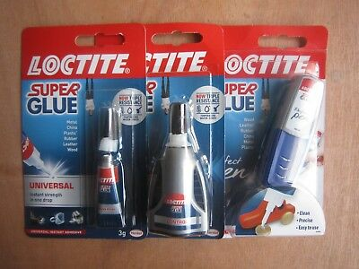 Loctite Super Glue Gel Pen Power Flex All Purpose Adhesive**new Free P&p**