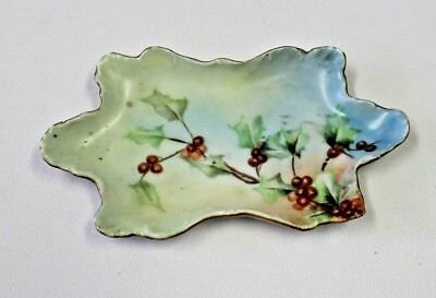 Antique Limoges  France Porcelain Hand Painted Pin Tray