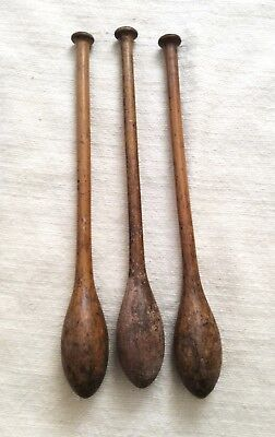 Victorian set of three wooden Indian exercise clubs