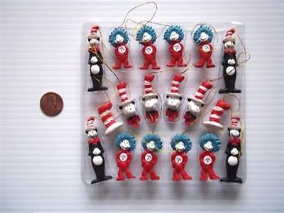 "New 18 Dr. Seuss The Cat in the Hat Mini Figurine Ornaments  "" FREE SHIPPING """