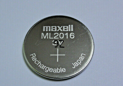 Maxell ML2016 2016 One Single Lithium Rechargeable Coin Cell Battery 3V Japan