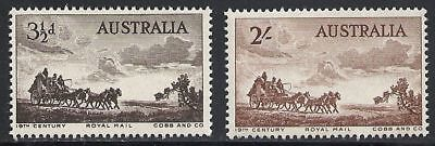 Cobb and Company Pioneers of Australian Coaching Mint NH 1955 Complete #281-282