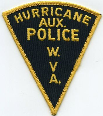 old vintage HURRICANE WEST VIRGINIA WV AUXILIARY POLICE PATCH