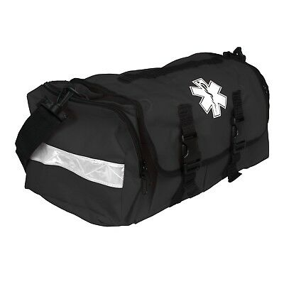 First Responder EMT Paramedic On Call Trauma Bag With Reflectors Tactical Black