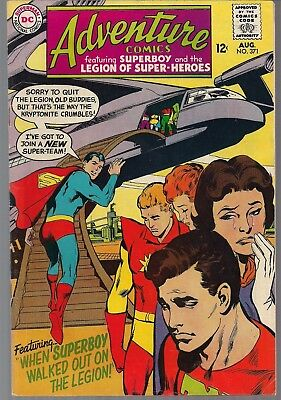 Adventure Comics #371 Dc 08/68 Legion Of Super-Heroes Intro: Chemical King Fn/vf