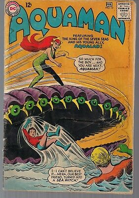 "Aquaman #13 Dc 02/64 Mera 2Nd Appear + Aqualad ""invasion Of Giant Reptiles"" Vg-"