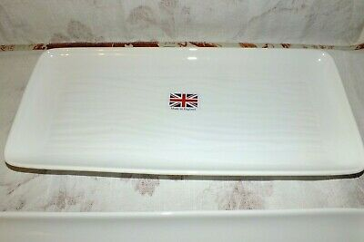 DUDSON ENGLAND fine china WHITE  rectangular TRAY (s)  NEW