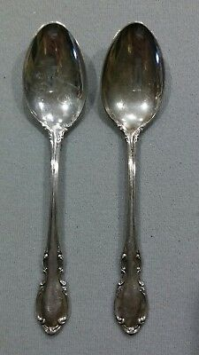 "lot of 2 vintage 1962 Towle Legato sterling tea spoons 6"" long"
