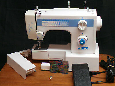 HEAVY DUTY WHITE Sewing Machine Model 40 Leather Upholstery Denim Delectable White Heavy Duty Sewing Machine