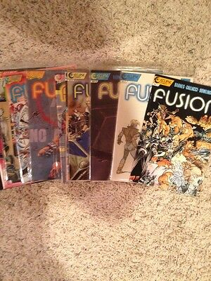 Fusion 1987 #1,2,3,4,5,6, 1988 #7,8,9,10,11,12, 1989 #13,14,15, Complete Run Vf+