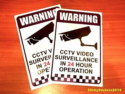 2 PK Warning CCTV Security Video Surveillance Camera 200x300mm POLY PLASTIC SIGN