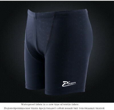Male Waterproof Short Quick-drying Briefs large size man's black Swim suits Pool