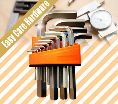 20 PC PCS T HANDLE HEX KEY SET METRIC AND SAE ALLEN WRENCH stock back AU