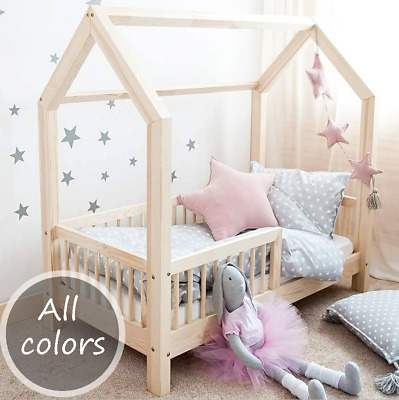hausbett spielbett kinderbett kinderhaus bett kinder holz haus eur 269 00 picclick de. Black Bedroom Furniture Sets. Home Design Ideas