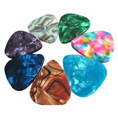 50Pcs Guitar Picks Acoustic Electric Plectrums Celluloid Assorted Color US