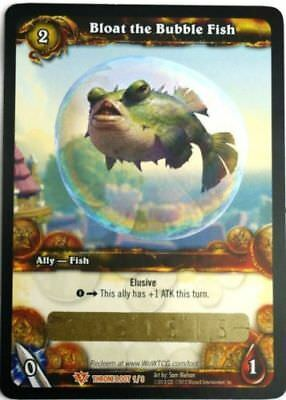 WOW TCG Loot Code Bloat the Bubble Fish World of Warcraft Purple Puffer Game Pet