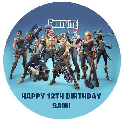 FORTNITE Edible Premium Wafer Paper Party Birthday Cake Decoration Topper Image