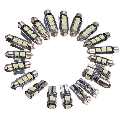 20x Weiß Canbus LED Auto Innen Beleuchtung Lampe für A4 S4 B8 2009-15