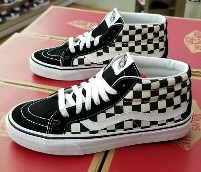 78cc15a5585 Vans Sk8-Mid Reissue Checkerboard true White Vn0A391Fqxh Men Sz 4.5 (Women 6