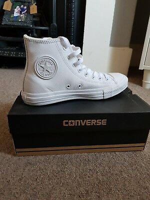 ab6ef724634fad Converse 1970 s Chuck Taylor Mono White Leather 155453C High Top Trainers