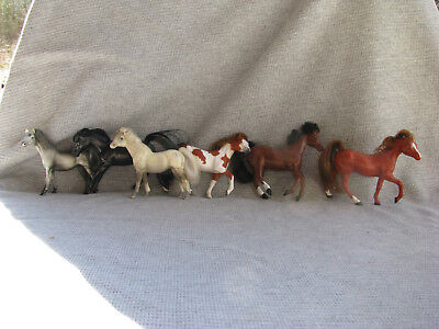 Grand Champions GC Set of 6 Mini  Horses - Very Good Condition!