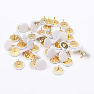 50Pcs Round  Push Pins Notice Board Map Thumb Tacks Point Bulletin Drawing