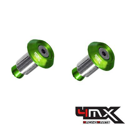 4MX Alloy Green Bar End Caps fits Husqvarna 250 FC 2016-2017