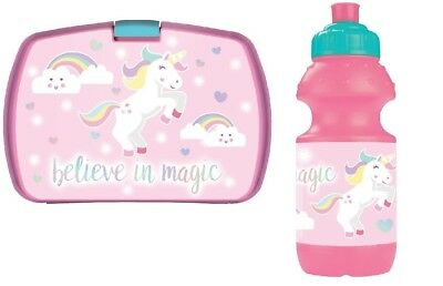 Magical Unicorn Lunch Box With Matching Drinking Bottle