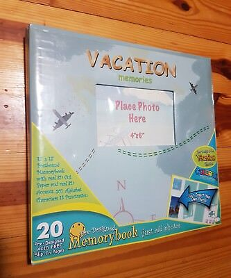 Blue Vacation Memories Holiday Scrapbook Photo Book Memory Album