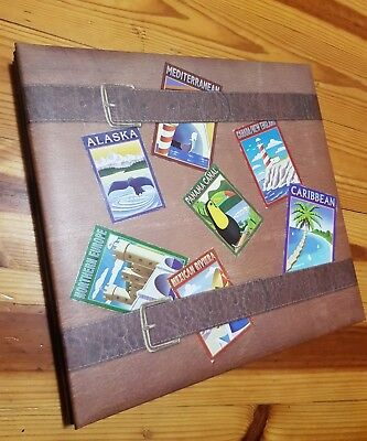 Brown Travel Vacation Memories Holiday Scrapbook Photo Album Memory Book