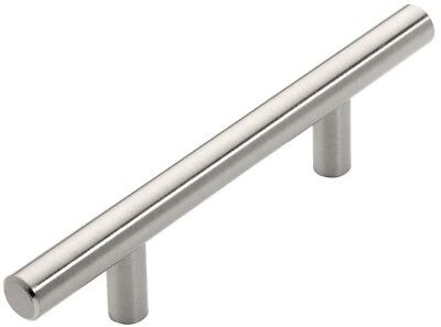 Cabinet Drawer Pull 3 in. (76 mm) Decorative Satin Nickel Handle Bar (25 Pack)