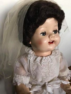 "Beautiful hard plastic 21"" Pedigree Saucy faced Walker Doll"