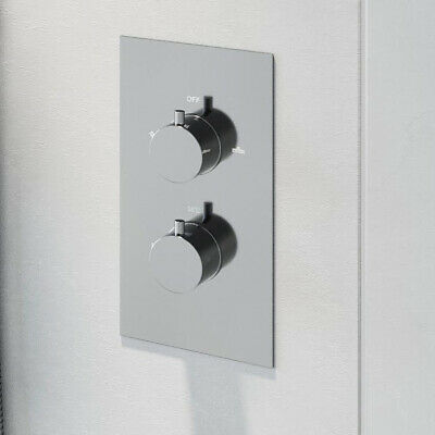Modern Concealed Shower Valve Thermostatic Single Outlet Chrome Dual Control