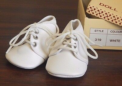"Tallina/'s Doll  Shoes Soft Vinyl 3/""  Size 3 White NEW In Box"