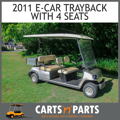 ECAR 2011 Tray Back 4 Forward Facing Seats Gold Golf Cart Buggy