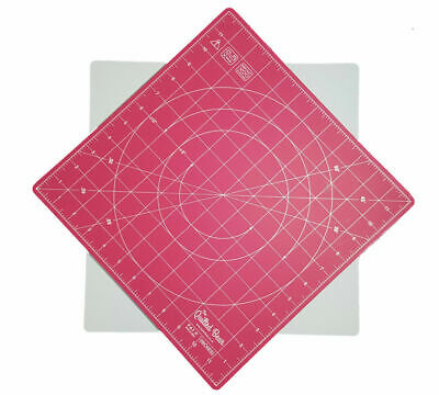 """Quilted Bear 360° Rotating Self Healing Cutting Mat 12"""" x 12"""" (inches) [QBRM08]"""