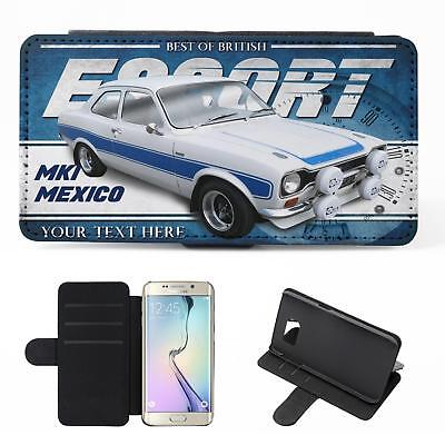 Personalised Ford Escort rs2000 mk2 Wallet Classic Car Leather Men Dad Gift CL15