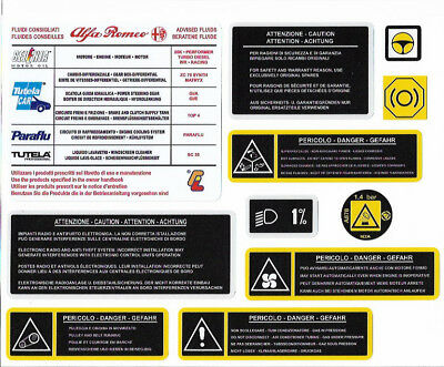 ALFA ROMEO Engine Bay Decals / Stickers 2003 Onward - Twin Spark, V6, Busso, JTD