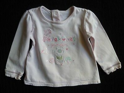 Baby clothes GIRL 12-18m long sleeve top pink,embroidery soft cotton SEE SHOP!
